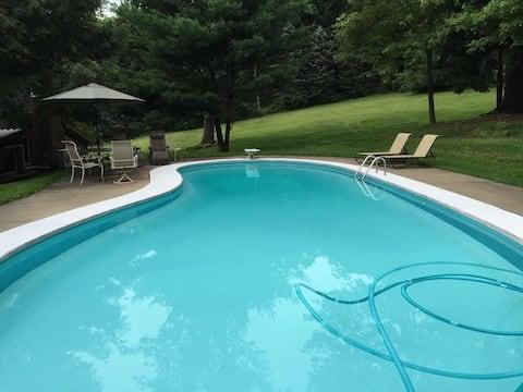 Fireplace, Pond, Pool, 16 acres!