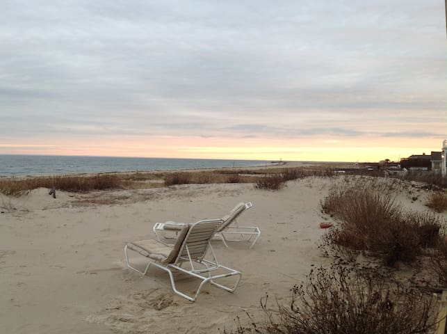 House on the beach in Mattituck Long island