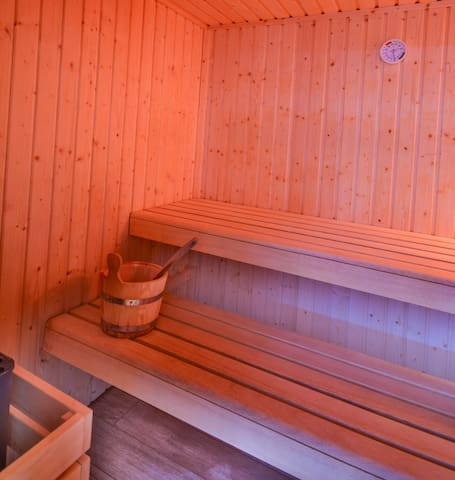 Enjoy on-site amenities such as the sauna.