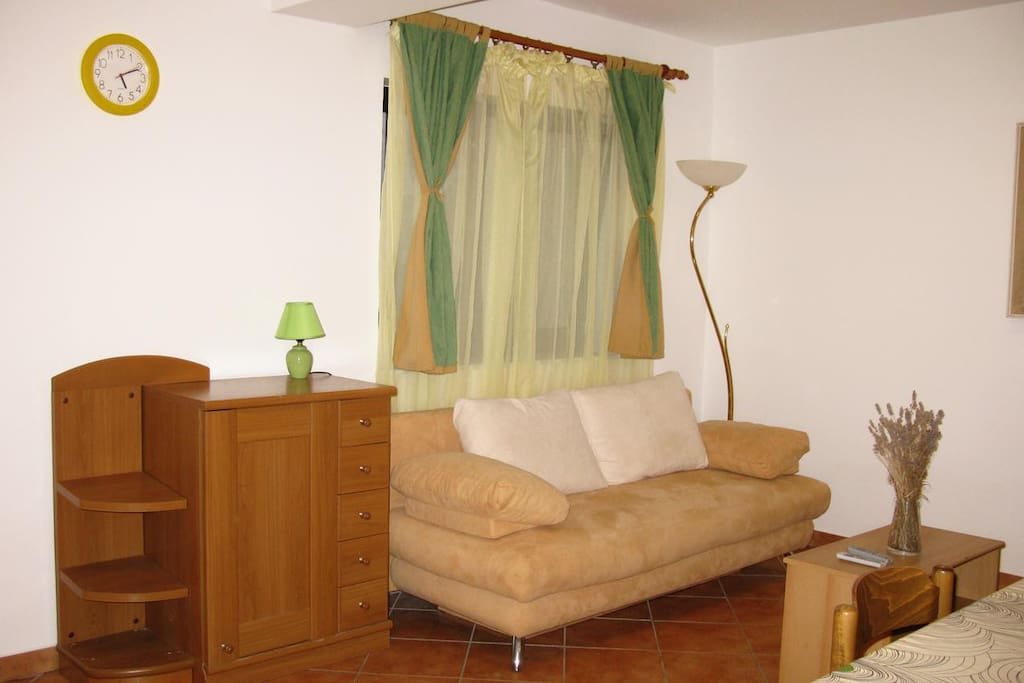 Living room, Surface: 16 m²