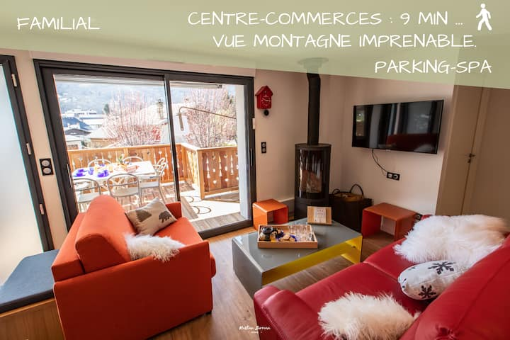 Chalet/Centre village: Cosy 2 ch / vue imprenable