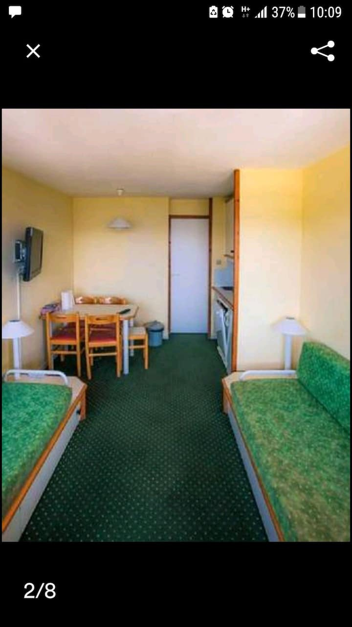 appartement dans le centre station avec balcon