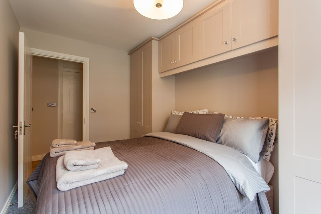 Your own wardrobe by the bed and keys to the bedroom