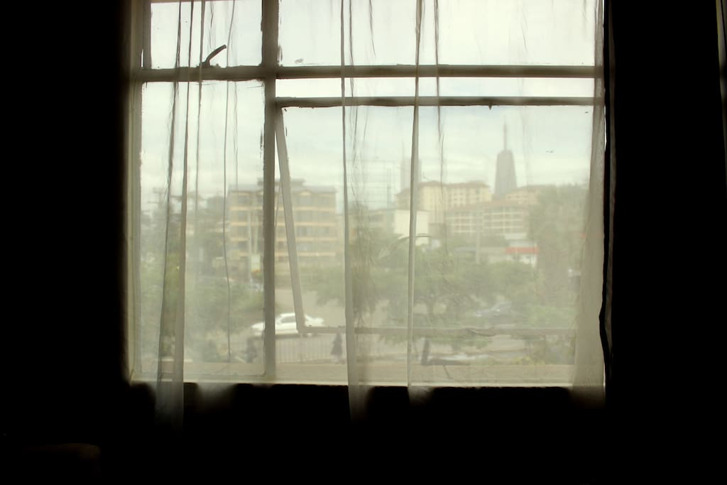 Vibrant view of Nairobi from living room
