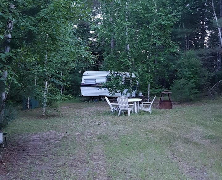 OUR PLACE. SMALL CAMPER ON A SITE NEAR POOL