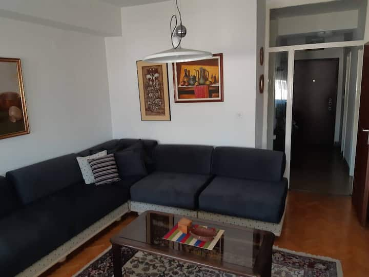 ELEGANT APARTMENT NEAR CITY CENTAR  The apartment is located in a building just 10 min walk from the centar. Also it is 2 min walk from the city train/bus station. In the area there are super markets, restaurants and coffee shops.  The space•The apartment