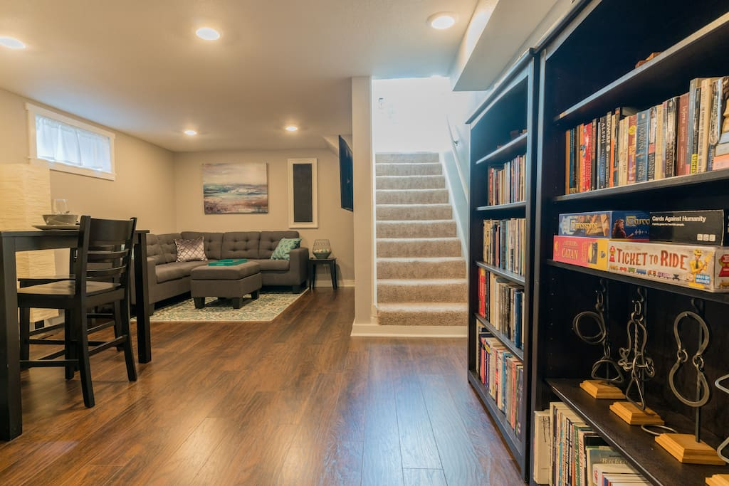 Well lit basement with private entry.