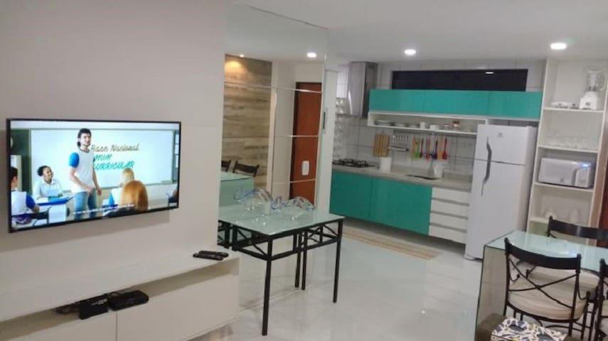 Quarto e Sala Vista Pro Mar - Maceió - Apartment