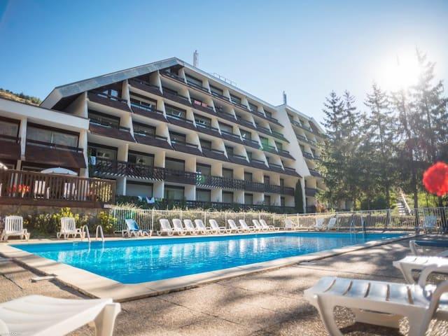 Studio 4p + piscine - Club Hotel Chantemerle
