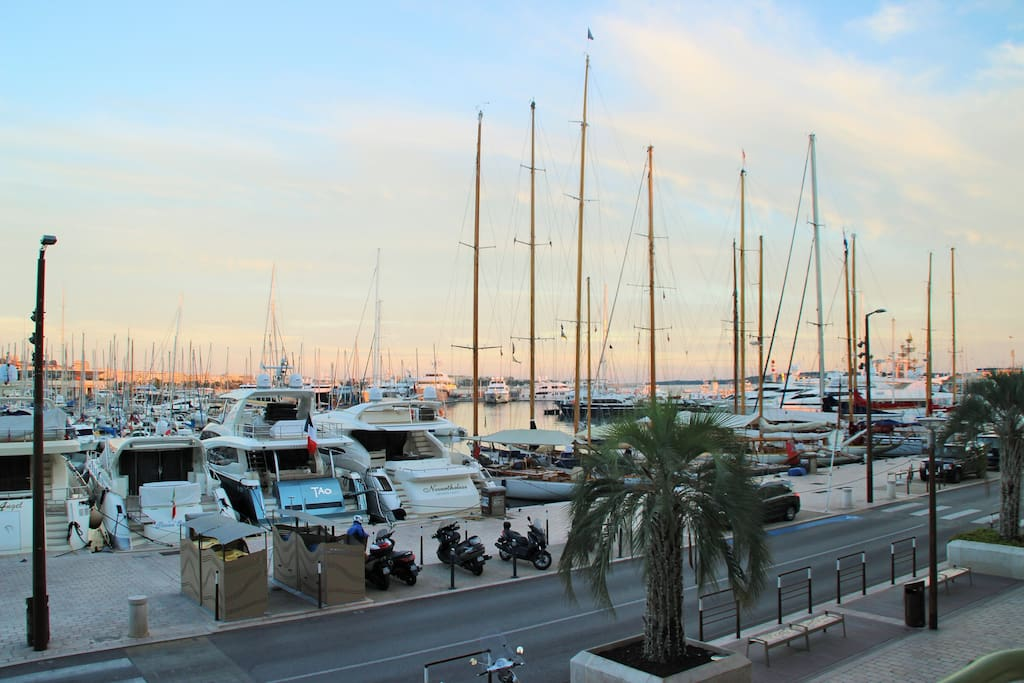 View of Cannes Port