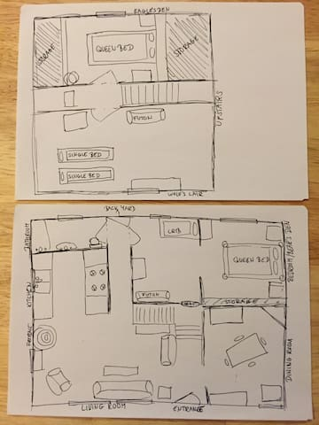 Here is the layout of our cabin.