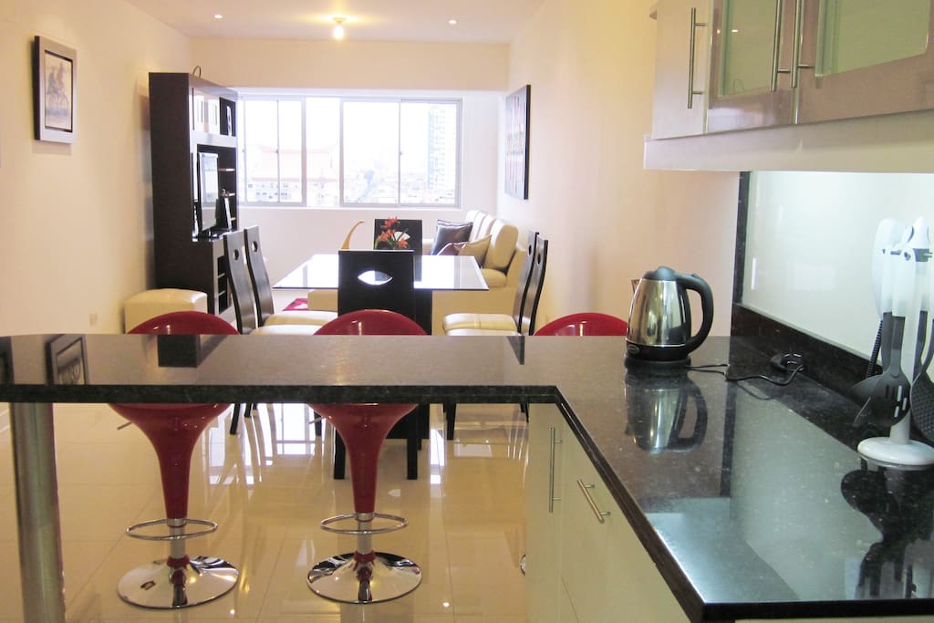 Cocina, Comedor y Sala Integrado
