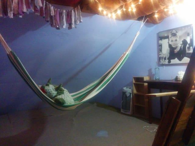 Attic Loft with Hammock & Relaxing Back Patio. - Bethlehem