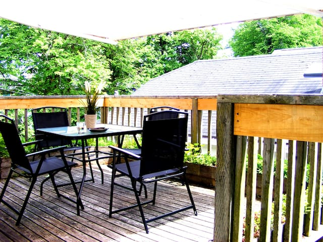 Best deck in town! in all new 3 bedroom flat