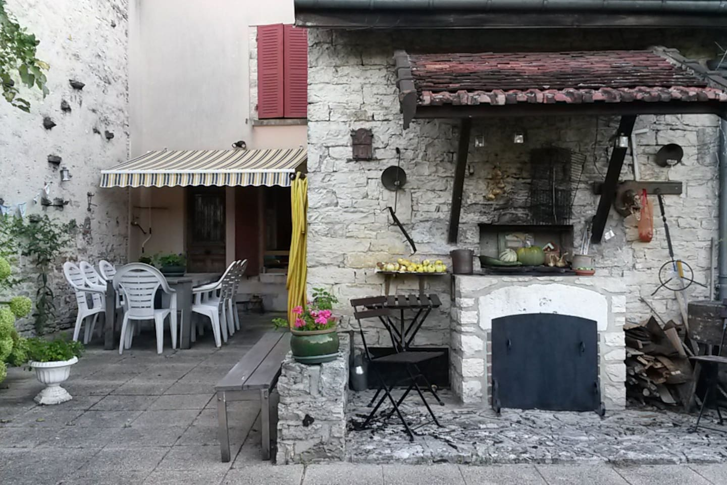 Patio and BBQ area