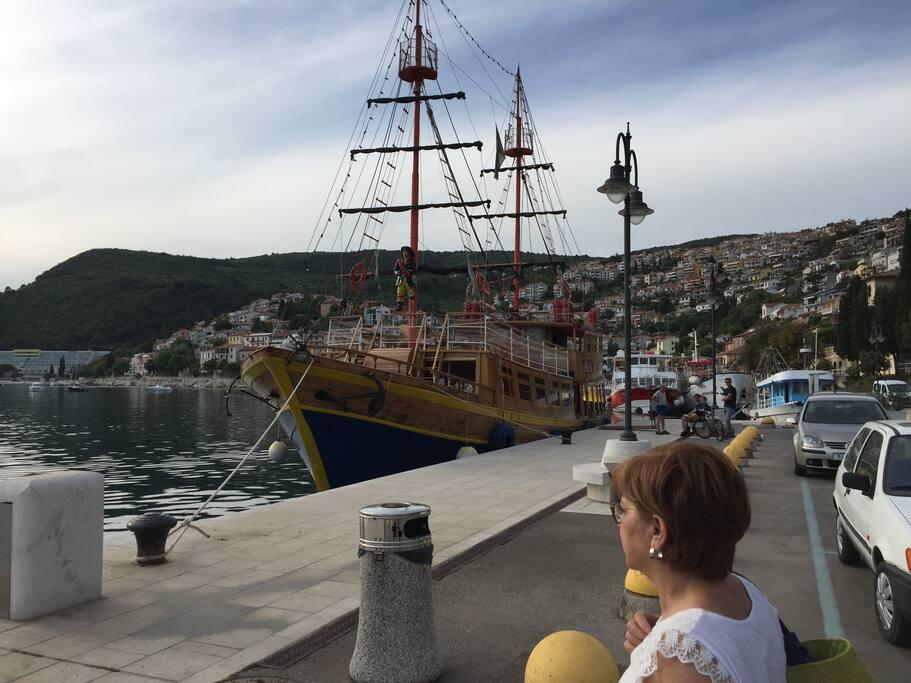 Rabac , port