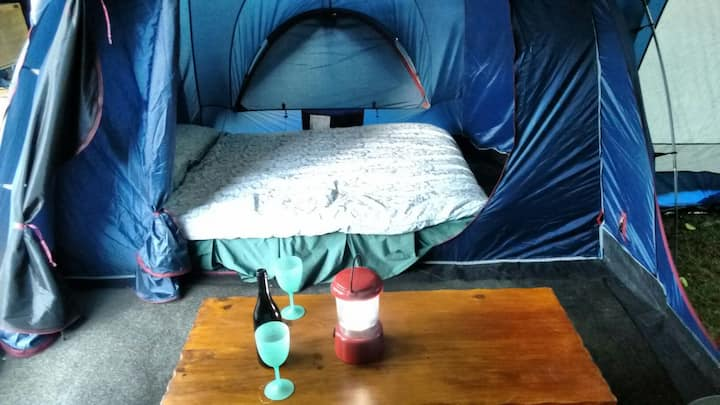 Glamping at Mt Martha by the beach.