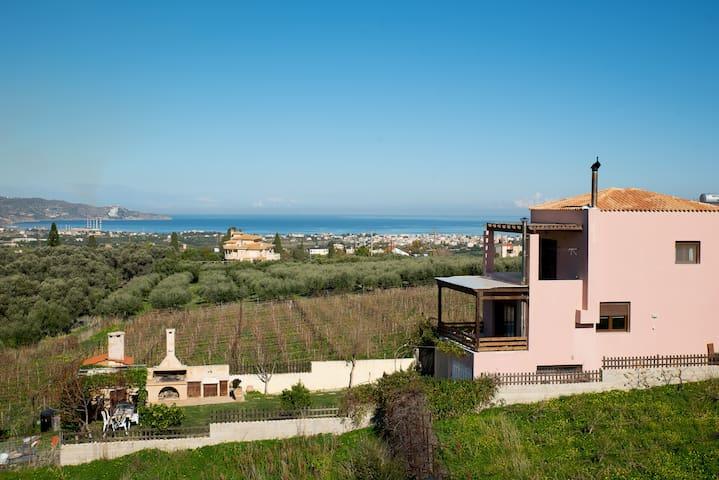 overlooking the Herakleio Bay