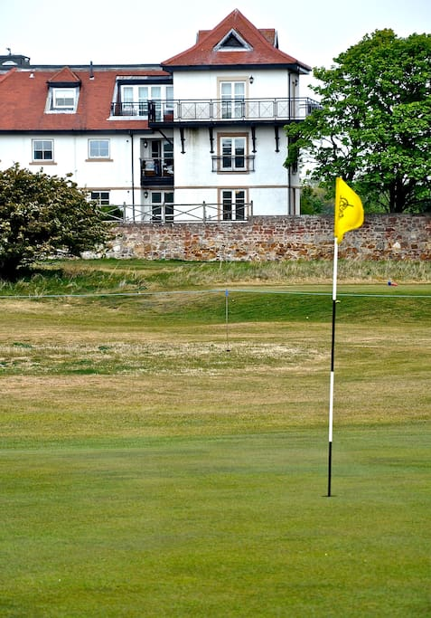 View of the Apartment (ground floor) from the 17th Green of Gullane No 3