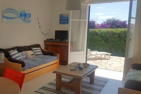 Cap d'Antibes, 2 pièces rdc + terrasse + parking - Antibes