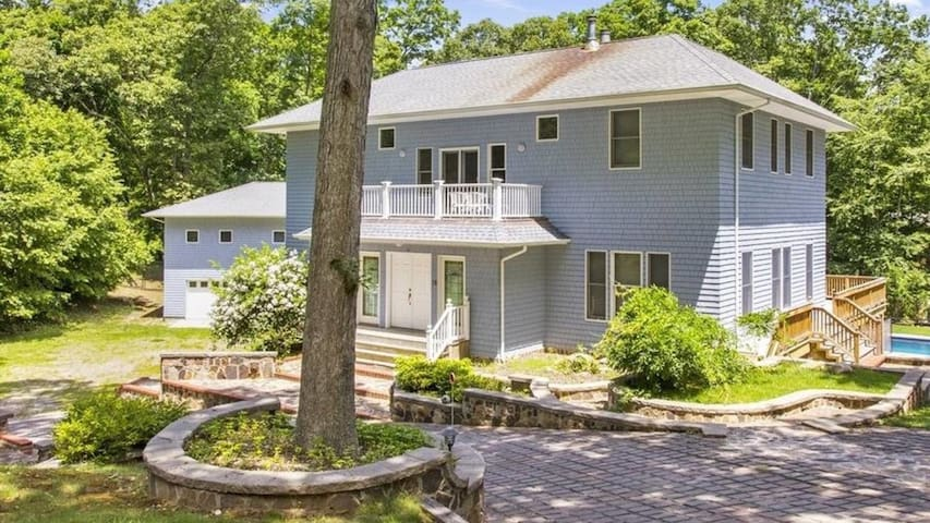 New Listing: Bright & Exquisite Shelter Island Home Near Town & Beach w/ Heated Pool, Games Room