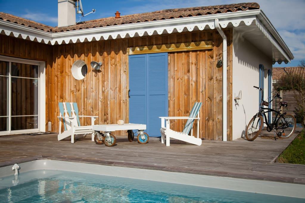 Aloha villa d co surf huizen te huur in l ge cap ferret aquitaine frankrijk - Deco huizen ...