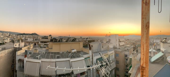 Penthouse with Acropolis and sea 🌅 view
