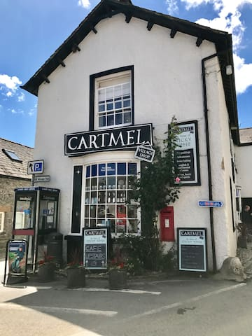 Cartmel is famous for its Sticky Toffee pudding... this is where you can purchase it along with many other foodie items