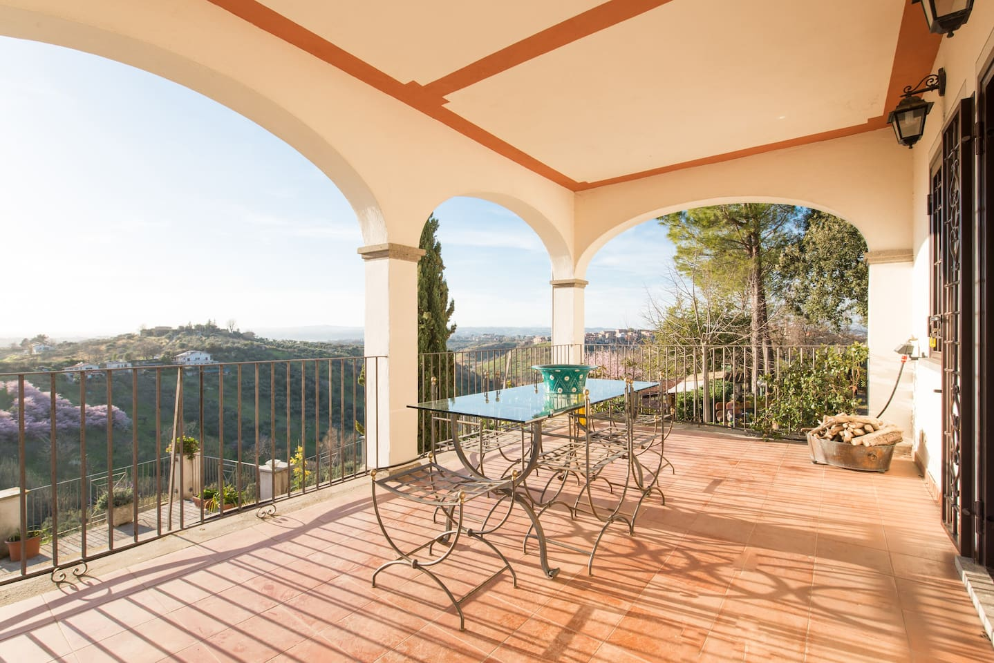Panoramic terrace on the first floor