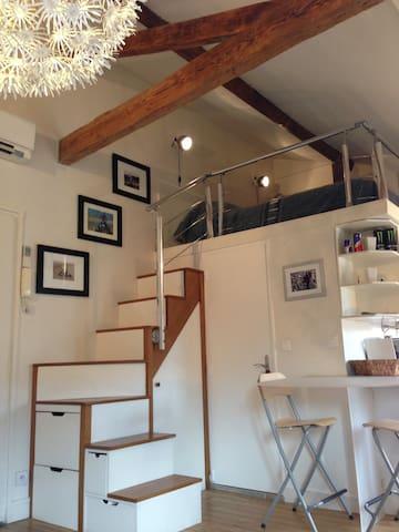 Beau studio/loft avec parking - Paris - Apartemen