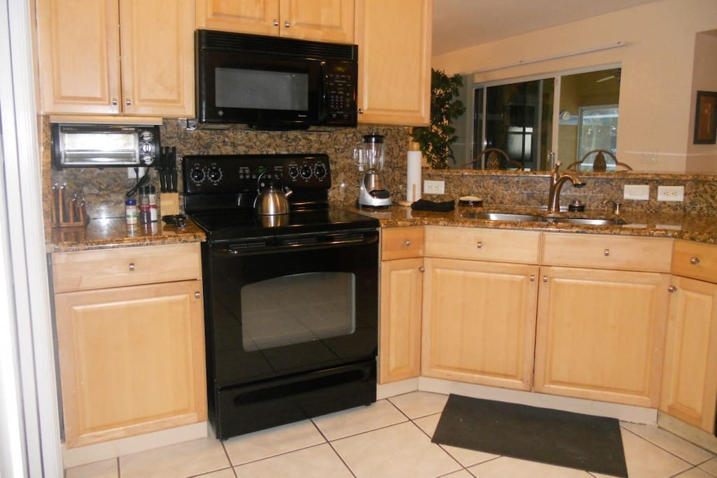 Super large well equipped kitchen