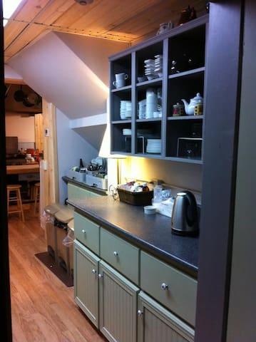 More counter space in the shared kitchen