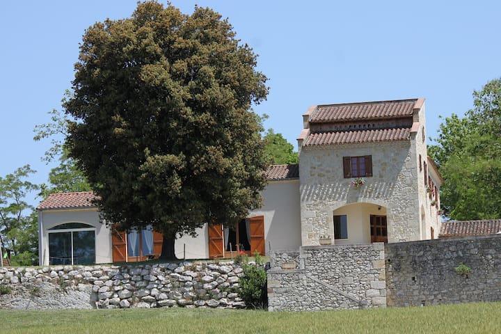 maison au calme piscine / sauna / jacuzzi / repos - Nérac - Huis