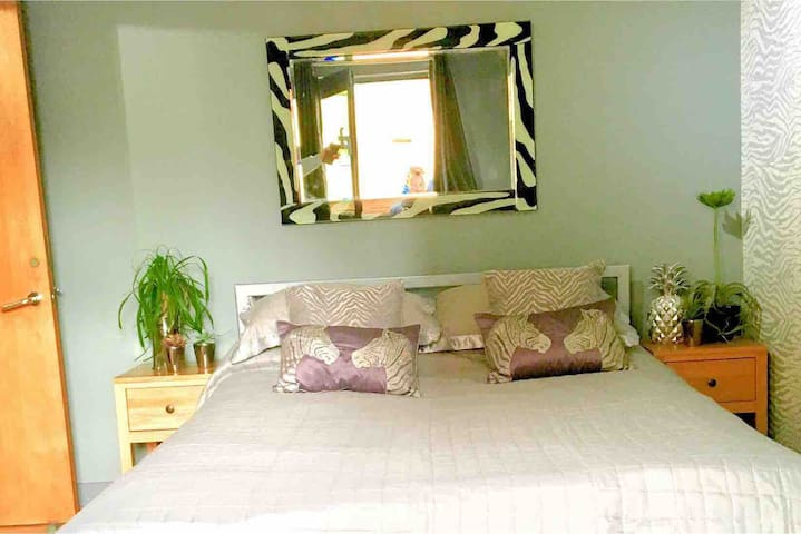 Zebra Styled Studio Room Near Arena/CC Sleeps 3