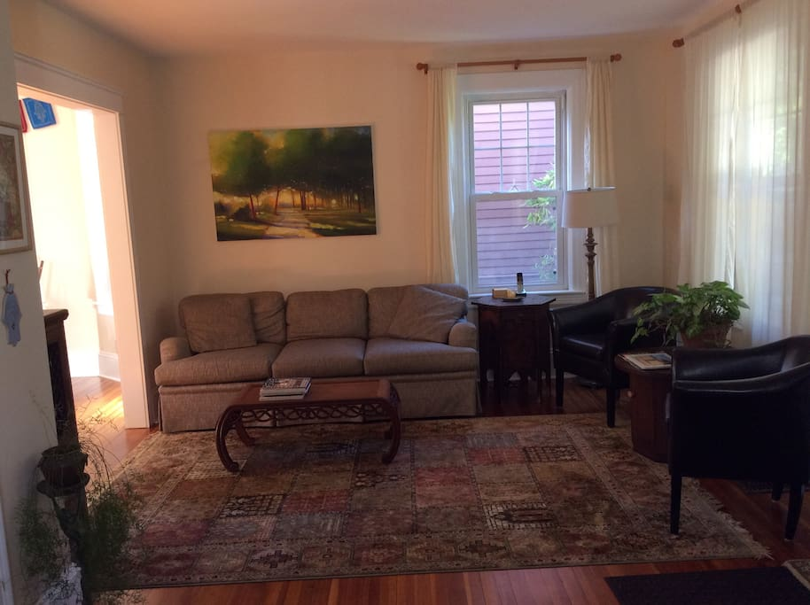 Relax in our peaceful, sunlit living room
