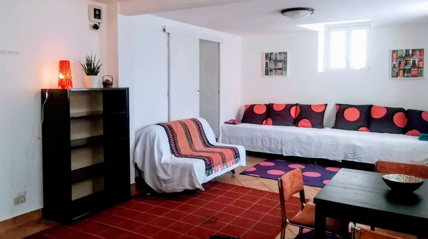 Cheap flat with garden close to the city center