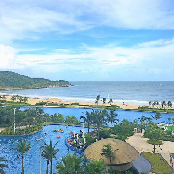 阳江海陵岛十里银滩海洋风情(海景楼王)一线海景房(距海滩50米)#已全屋消毒#