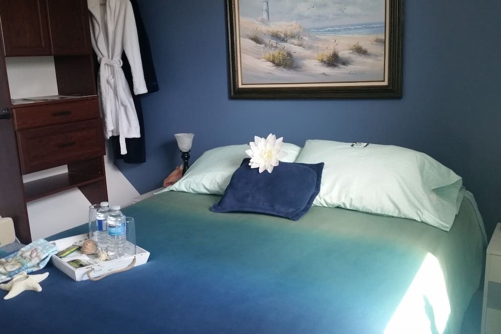 Original view of the Seaside themed Business Trip/ Small Family  Queen room.