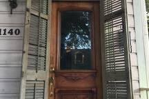 Traditional door and shutter