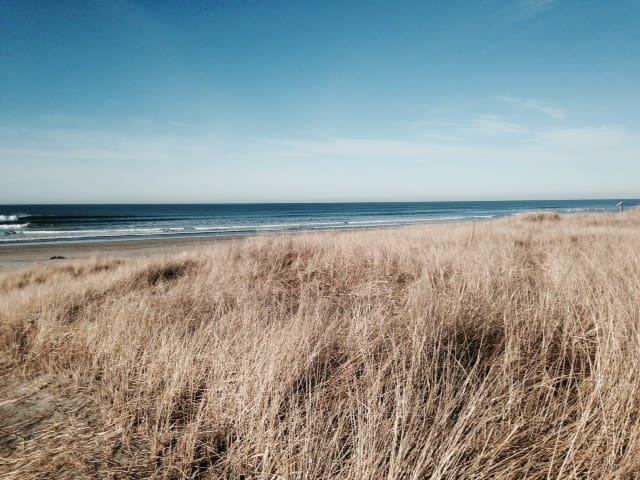 Fresh air/quiet space at the beach!  Space galore!