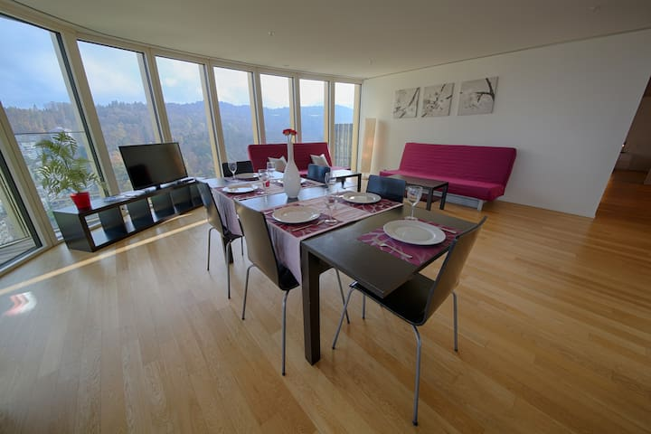 Exclusive 3.5 room with terrace S.L - Luzern - Appartement