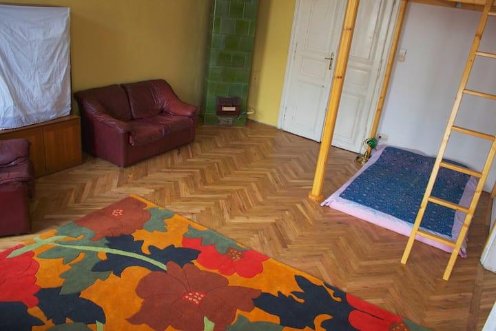 Room for rent in artistic neighbourhood.