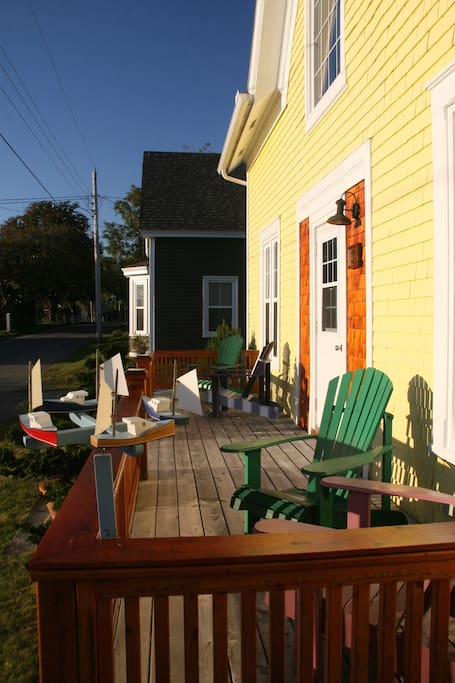 front porch-a good place for coffee.