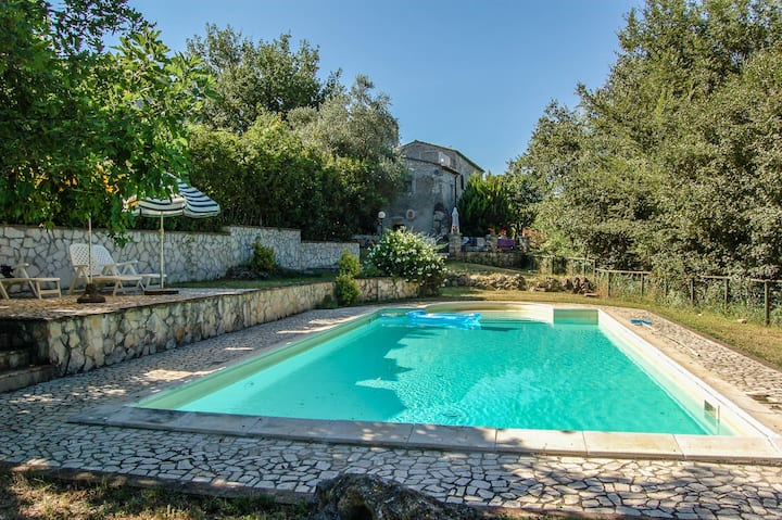 Casaletto house with private pool 80km from Rome