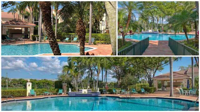 4 beds/ 2.5 bath resort style condo + heated pool