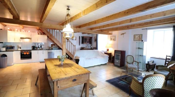 House with 3 bedrooms in Saint-Clément, Thiézac , with wonderful mountain view and terrace - 22 km from the slopes