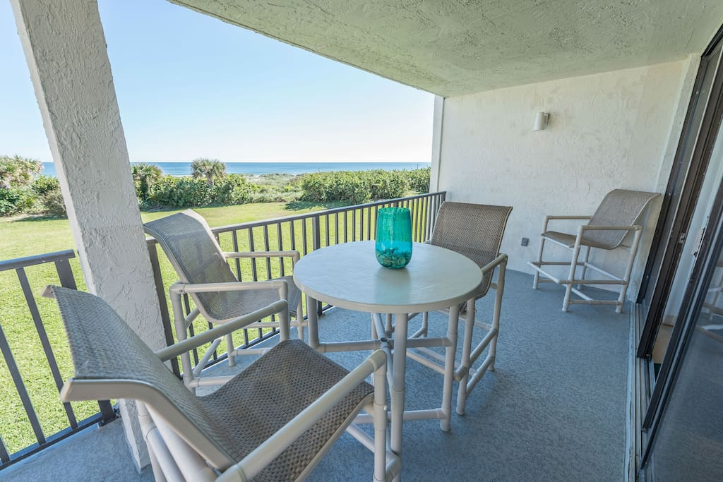 Direct oceanfront balcony - smell the beach and hear the waves!