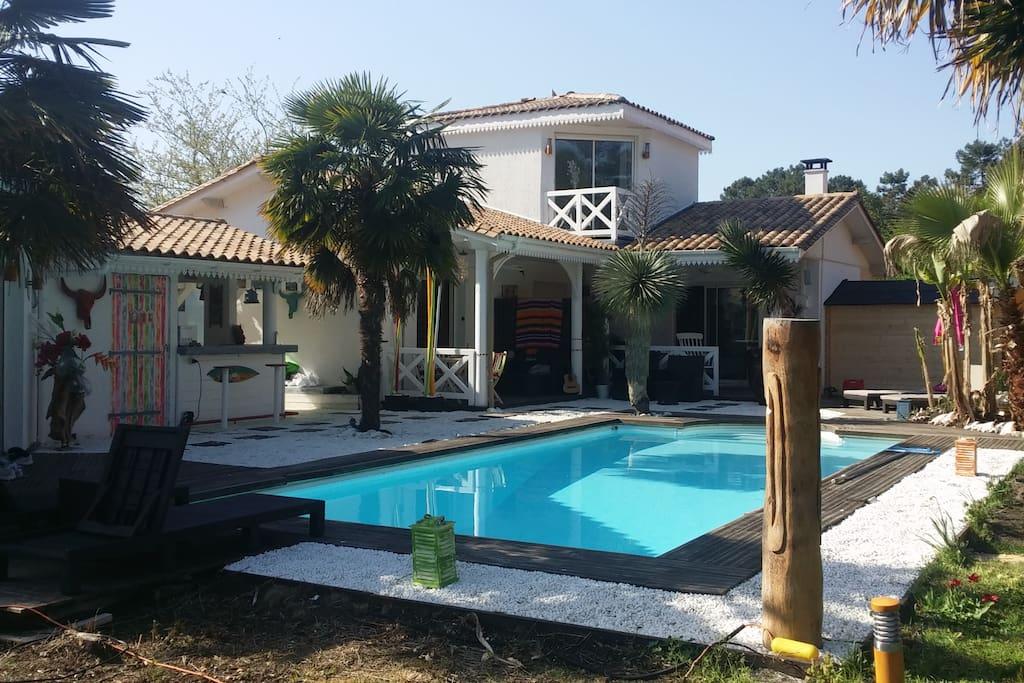 la villa dans son style cubain