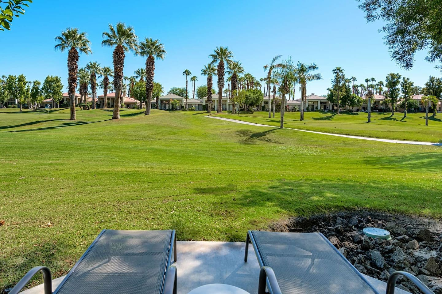Relax outside while enjoying the views and golf