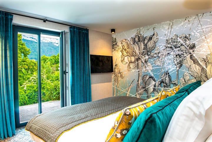 Villa***** vue lac Annecy, piscine privative